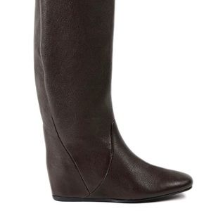 8e38dd030987 Lanvin Shoes - Lanvin dark brown hidden wedge knee boots 40.5